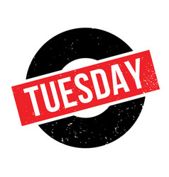 Tuesday rubber stamp vector