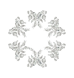 Ukrainian national motives Silver pattern vector image