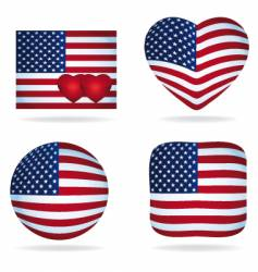 usa icons pack vector image vector image