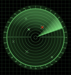 Radar and sonar screen detection monitor vector