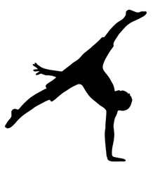 High quality original boy gymnastic doing splits vector
