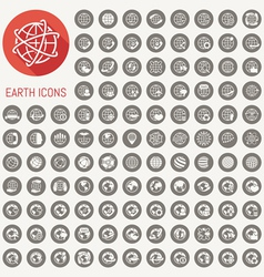 109 earth icons set vector