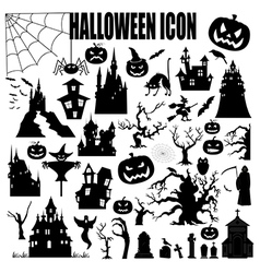 Halloween holiday constructor graphic template vector