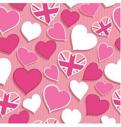 uk hearts pattern vector image