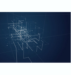 Abstract geometric technology design vector
