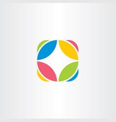 Circle logo company icon abstract symbol vector