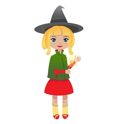 Blondhair witch vector