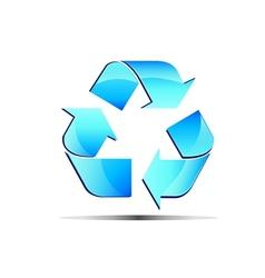 Logo renewable blue vector