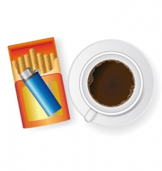 Coffee and cigarettes vector