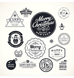 christmas decoration frame design elements vector image