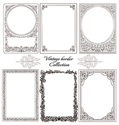 Set of vintage borders vector