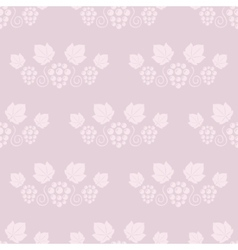 Seamless grape vines pink background vector