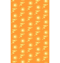 Summer bright pattern with suns and water isolated vector