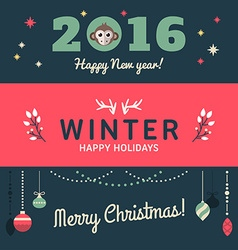 Christmas and new year cute hand drawn decorative vector