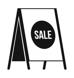Sandwich board with text sale icon simple style vector