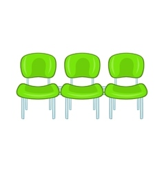 Green airport seats icon cartoon style vector