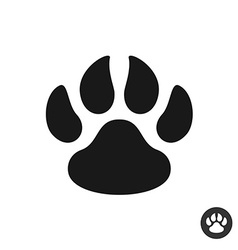 Animal paw black simple flat icon Foot step print vector image vector image