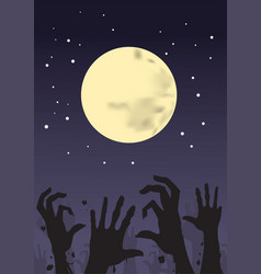 awakening of the zombie vector image