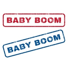 Baby Boom Rubber Stamps vector image vector image