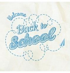 Back to school calligraphic design eps 10 vector