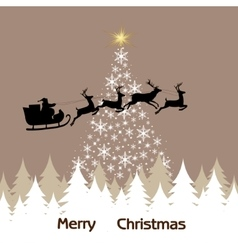 Background of the Christmas tree snowflakes and vector image vector image