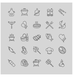 barbecue and grill icons set vector image