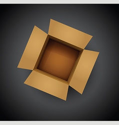 brown cardboard box vector image vector image