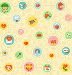 Circular Love Pattern vector image vector image