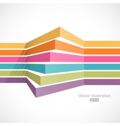 Colorful horizontal lines in perspective vector image