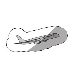 Contour fly airplane transportation vector