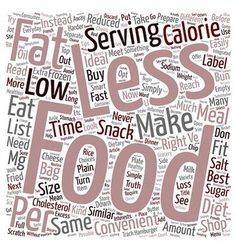 Convenience food tips text background wordcloud vector