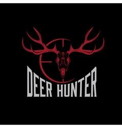 Deer skull with target design template vector