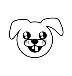 Face dog animal outline vector