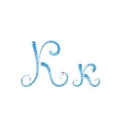 Fairy aqua alphabet vector image vector image
