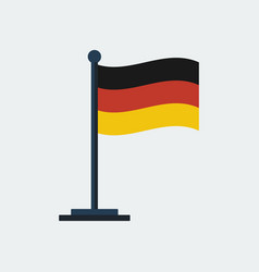 flag of germany flag stand vector image vector image