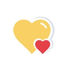 Flat color heart amp mini icon vector