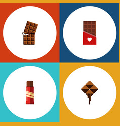 Flat icon bitter set of sweet chocolate vector