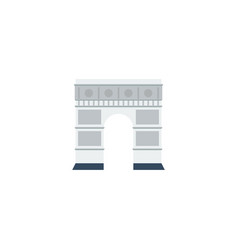 Flat icon triumphal arch element vector