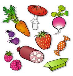 Food ikons vector