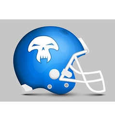 Football team helmet vector