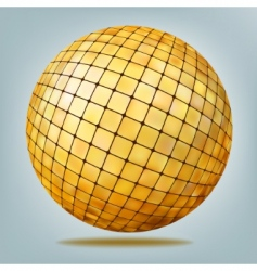 golden disco ball vector image vector image
