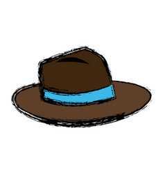 Hat men accessory fashion icon vector
