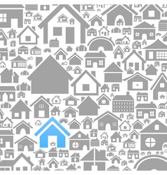 House a background vector image vector image
