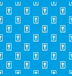 Idea lamp on gadget screen pattern seamless blue vector