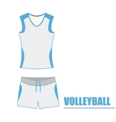 Isolated volleyball uniform vector
