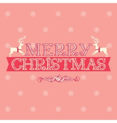 Merry christmas card greeting vector