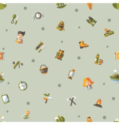 Modern flat design pattern of camping and hiking vector