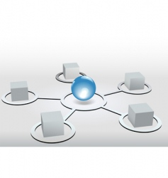 network nodes vector image