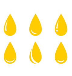 Oil droplet set vector