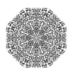 ornate floral mandala isolated on white background vector image vector image